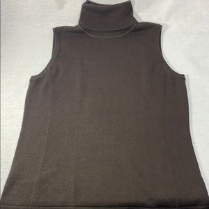 Per Se Carlisle Knit Sleeveless TurtleNeck Med